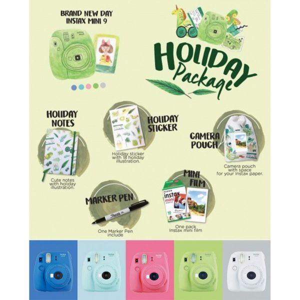 Jual Instax Mini 9 Holiday Package