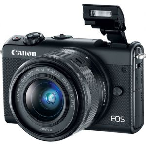 Canon EOS M100 Mirrorless Digital Camera with 15-45mm Lens (Black&White&Grey)