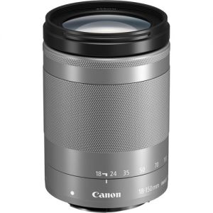 Canon EF-M 18-150mm f3.5-6.3 IS STM Lens (Silver)