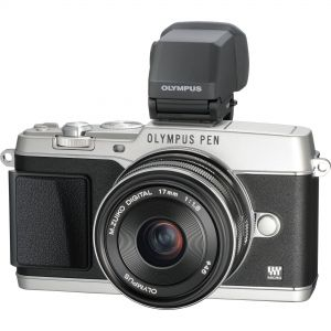 Olympus PEN E-P5 with 17mm f1.8 + VF4 Silver & White