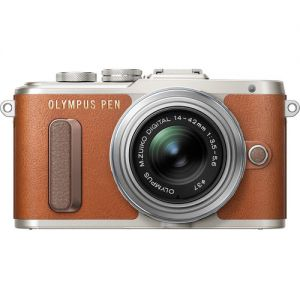 Olympus PEN E-PL8 with 14-42mm Lens (Brown)