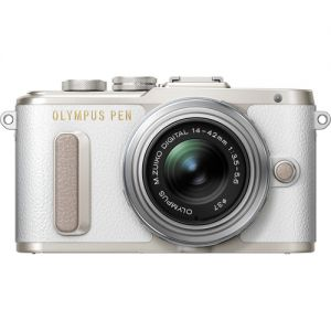 Olympus PEN E-PL8 with 14-42mm Lens (White)
