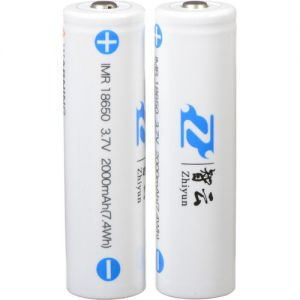 Zhiyun-Tech 3.7V, 2000mAh Li-Ion Batteries for Smooth-II, Evolution, Crane Version 1 (18650)